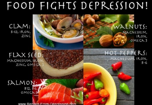 Five best foods for fighting depression