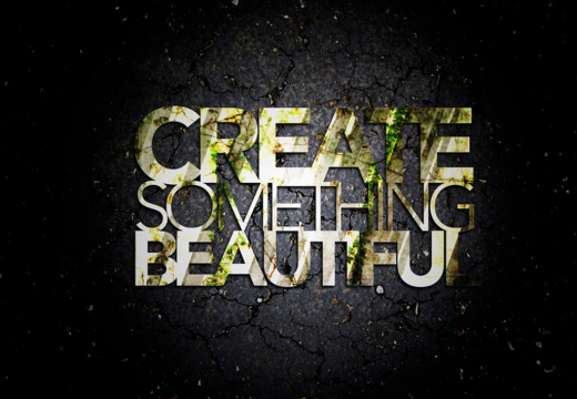 New time. new life and the word 'create'