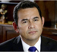 Near the end of race of presidency of Guatemala