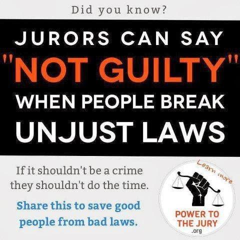 """Es la «Nulificación Juratorial"""" una causa para ir a la cárcel? Sí"""
