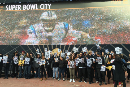 Mario Woods Coalition marches on Super Bowl City on opening day
