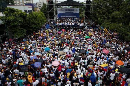 La oposición se toma a Caracas