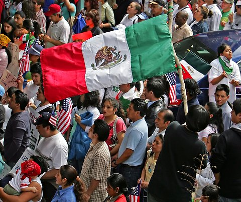 Mexican  population grew more than a million in  one year