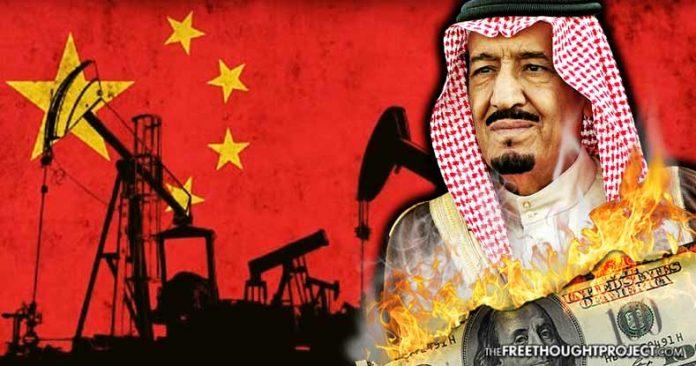China obligará a Arabia Saudita a comercializar petróleo en yanes chino