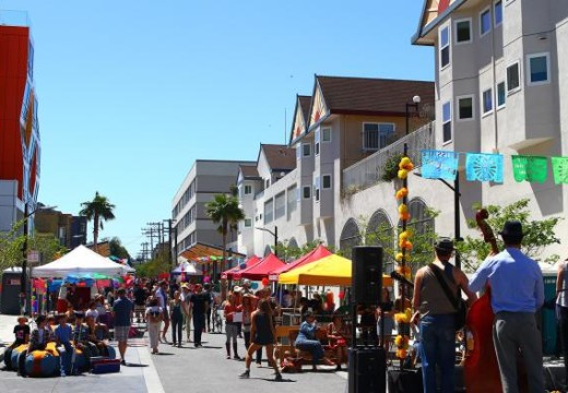 Celebration of the opening day of Mission Community Market La Placita