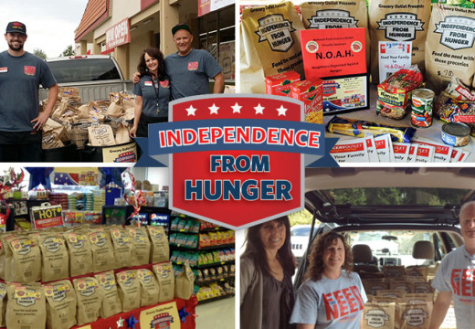 Grocery Outlet Launches 'Independence from Hunger®' Campaign for Eighth Year