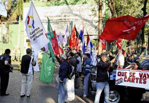 Paraguayan demonstrators demand electoral reforms